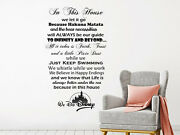 Family Wall Decals Quote In This House We Do Disney Vinyl Sticker Nursery Ns1805