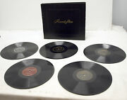 Lot Of 5 Vintage 78 Rpm Record Albums And Storage Book - Decca Captial Musicraft