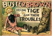 Buster Brown's His Dog Tige And Their Troubles By Richard Felton Outcault Good