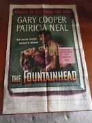 Vintage The Fountainhead Poster 27 X 41 Warner Bros 1949 Gary Cooper