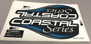 New Mercury Outboard Oem Coastal Series 37- 856795-3 Decal As Shown