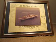 Shipand039s Crew Autographed Photo Of Uss Midway