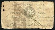 1815 12 1/2 Cents New Haven Bank New Haven Ct Obsolete Scrip Very Rare