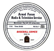 Baseball Games 307 Broadcasts Old Time Radio Mp3 13 Cd's