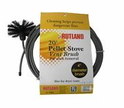 Rutland Pellet Vent/dryer Vent Brush With Handle New Free Usa Shipping 17420