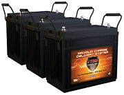 Qty3 Vmax Mr147-155 Agm Deep Cycle Batteries For 36v 105lb Trolling Motors