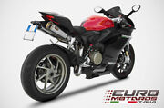 Ducati Panigale 1199 Zard Exhaust Full System With Titanium Silencers Racing