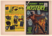 Journey Into Mystery 35 Unused Comic Book Cover - Turn Back The Clock 7.0 And03956