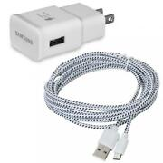 Samsung Galaxy - Home Wall Travel Adaptive Fast Charger 6ft Long Sync Usb Cable
