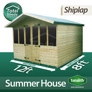 12 X 8 Supreme Summer House Log Cabin Office Bar Shed High Quality Timber Wooden
