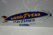 Large 2 Sided Goodyear Blimp Sign 10 1/2 High By 28 Wide. Awesome