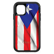 Otterbox Defender For Apple Iphone Pick Model Red Whit Blue Puerto Rico Flag