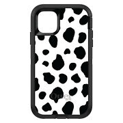 Otterbox Defender For Apple Iphone Pick Model Black White Cow Dalmatian Spot