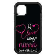 Otterbox Defender For Apple Iphone Pick Model Love Being Nurse Most Of Time