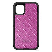 Otterbox Defender For Apple Iphone Pick Model Hot Pink Diamond Plate Steel