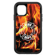 Otterbox Defender For Apple Iphone Pick Model Flames Fire Department