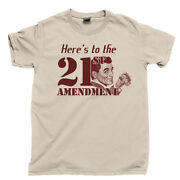 21st Amendment T Shirt Prohibition Scotch Whisky Beer Speakeasy Bar Tee