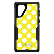 Otterbox Commuter For Galaxy Notechoose Modelwhite And Yellow Polka Dots