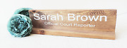 Office Desk Plaque Name Sign For Work Gift For Boss Wooden Name Sign Persona