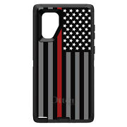Otterbox Defender For Galaxy Note Choose Model Thin Red Line Flag Fire Rescue