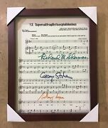 Broadway Musical Mary Poppins Autographed And Framed Music Lead Sheet