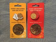 Sydney 2000 Summer Olympics Coin And Pin Set