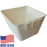 Bulk Cage Cups 100pcs Square 1.2 Quart Cup White Hanging Feed And Water Chickens