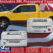 2004-2014 Ford F-150 Std/ext Chrome 2 Door Handle Covers Overlays W/psk W/keypad
