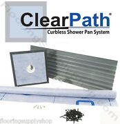 Clearpath Curbless Shower Pan System Up To 36 X 72 Abs Or Pvc Drain
