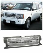 For 05-09 Land Rover Lr3 Discovery Lr4 Style Front Upper Bumper Hood Grille Grey