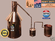 10 Gal Copper Moonshine Still With Thumper+worm 100 Guarantee Complete Setup
