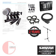 Shure Dmk57-52 Drum Microphone Kit With Stand And Cables. U.s. Authorized Dealer