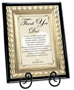 Unique Father Gifts Birthday Wedding Day Present Poetry Personalized Dad Inlaws