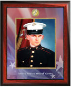 Military Picture Frame Usmc Photo Frames Marine Corps Gift Plaque Soldier Retire