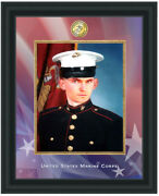 Usmc Military Gifts Portrait Picture Frame 8x10 Photo Plaque Marine Corps Wall