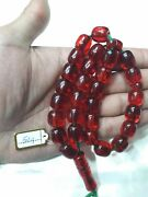 Collection Amberred And Amber Islamic Prayer Beads Tasbih Almost Any Size