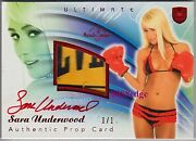2010 Benchwarmer Ultimate Prop Autosara Underwood 1/1 Of Red Autograph Playboy