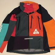 Palace Nyc Exclusive All Over Multicolor Patchwork Gortex Jacket Medium Large