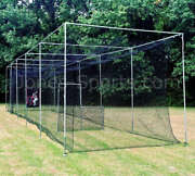 Batting Cage Netting 24-42ply W/ Door Batting Cage Frame Kit And Prof L-screen
