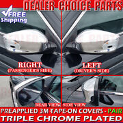 For 2008 2009 2010 2011 2012 Honda Accord Chrome Mirror Covers Overlays 2pc