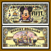 Disney 50 Dollars 2005 A Series 50th Anniversary Mickey Mouse Uncirculated