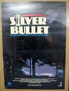 1985 Stephen Kingand039s Silver Bullet Vhs Release Poster 23x32 Cycle Of The Werewolf