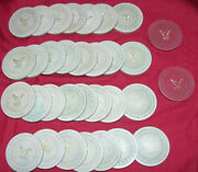 Old Clay Poker Chips Fraternal Order Of Eagles Foe Vintage Gambling Collectible