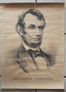 1890 Original Abraham Lincoln Poster/photo Image Used On 5 Bill