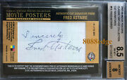 Breygent Movie Posters Cut Autofred Astaire 1/1 Autograph Afi 5th Greatest Bgs