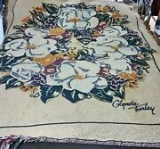 Glynda Turley Tapestry Throw Blanket Southern Traditions Magnolias Wreath