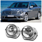 E63 Amg 08-11 W204 C-class Front Bumper Clear Lens Fog Lights For Mb 07-09 W211