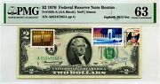 2 Dollars 1976 First Day Stamp Cancel Tomas Jefferson And Hanukkah Value 3000