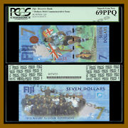 Fiji 7 Dollars 2016 P-120 New Rugby 7s Gold Olympic Polymer Pcgs 69 Ppq