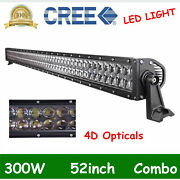 4d Lens 52inch 300w Led Work Light Bar Flood Spot Boat Off Road 4x4wd Vs 42/50and039and039